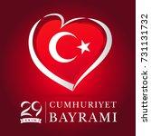 cumhuriyet bayrami 29 ekim red...   Shutterstock .eps vector #731131732