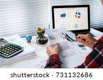 businessman analyzing... | Shutterstock . vector #731132686