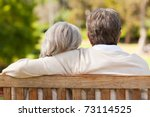 lovers on the bench | Shutterstock . vector #73114525