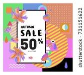 autumn sale memphis style web... | Shutterstock .eps vector #731151622