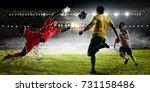 soccer best moments. mixed media | Shutterstock . vector #731158486