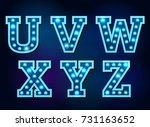 light font bulb text alphabet... | Shutterstock .eps vector #731163652