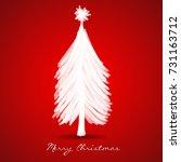 christmas tree greeting card... | Shutterstock .eps vector #731163712