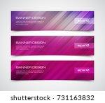 set of modern vector banners... | Shutterstock .eps vector #731163832
