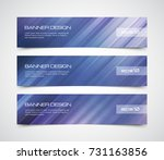 set of modern vector banners... | Shutterstock .eps vector #731163856