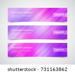 set of modern vector banners... | Shutterstock .eps vector #731163862
