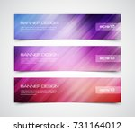 set of modern vector banners... | Shutterstock .eps vector #731164012