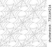 halloween seamless patterns...   Shutterstock . vector #731164216