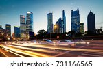 futuristic urban buildings at... | Shutterstock . vector #731166565