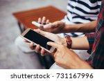selective soft focus.man... | Shutterstock . vector #731167996