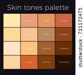 skin tones palette vector skin... | Shutterstock .eps vector #731172475