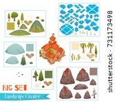 set of landscape elements with... | Shutterstock .eps vector #731173498