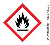 standard pictogam of flammable... | Shutterstock .eps vector #731175178