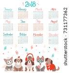 creative calendar 2018 with... | Shutterstock .eps vector #731177362