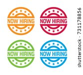 colorful set o fnow hiring... | Shutterstock .eps vector #731178856
