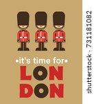 it's time for london poster... | Shutterstock .eps vector #731181082