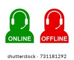 icon operator online and... | Shutterstock .eps vector #731181292