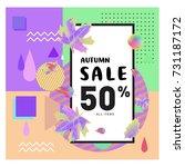 autumn sale memphis style web... | Shutterstock .eps vector #731187172