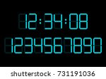 digital numbers  set  vector... | Shutterstock .eps vector #731191036