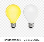lightbulb vector realistic ... | Shutterstock .eps vector #731192002