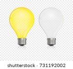 lightbulb vector realistic ... | Shutterstock .eps vector #731192002