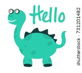 cute and funny dinosaur... | Shutterstock .eps vector #731201482