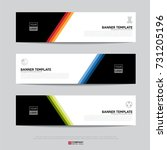 design of flyers  banners ... | Shutterstock .eps vector #731205196