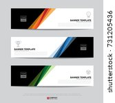 design of flyers  banners ... | Shutterstock .eps vector #731205436