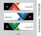 design of flyers  banners ... | Shutterstock .eps vector #731206168