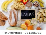 best sources of carbs on a... | Shutterstock . vector #731206732