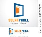 solar panel logo template  | Shutterstock .eps vector #731207476