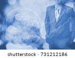 blue business network background | Shutterstock . vector #731212186