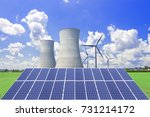 nuclear power plants ... | Shutterstock . vector #731214172