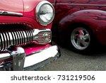 vintage red hot rod racer...