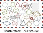 composition with collection of... | Shutterstock .eps vector #731226352