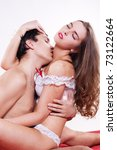 young sexy heterosexual couple... | Shutterstock . vector #73122664