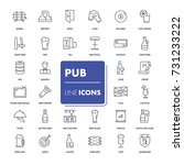 line icons set. pub pack.... | Shutterstock .eps vector #731233222