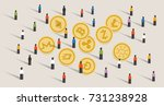 crowd people hype together... | Shutterstock .eps vector #731238928