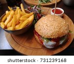 american cheese burger with... | Shutterstock . vector #731239168