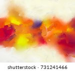 abstract colorful oil painting... | Shutterstock . vector #731241466
