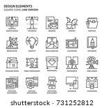 design elements  square icon... | Shutterstock .eps vector #731252812