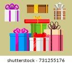 gift boxes vector set christmas ... | Shutterstock .eps vector #731255176