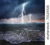 Storm  Thunder On The Ocean