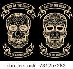 day of the dead. dia de los... | Shutterstock .eps vector #731257282