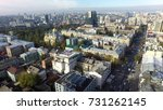 aerial view of kiev at autumn | Shutterstock . vector #731262145