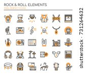rock   roll elements   thin... | Shutterstock .eps vector #731264632