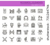 rock   roll elements   thin... | Shutterstock .eps vector #731264746