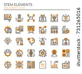 stem elements   thin line and... | Shutterstock .eps vector #731265016