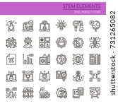 stem elements   thin line and...   Shutterstock .eps vector #731265082
