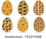halloween orange eggs